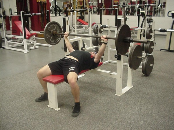 Chest Workout, Barbell Brench Press