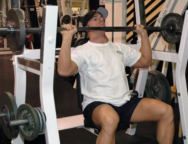 Shoulders: Military Press with Barbell