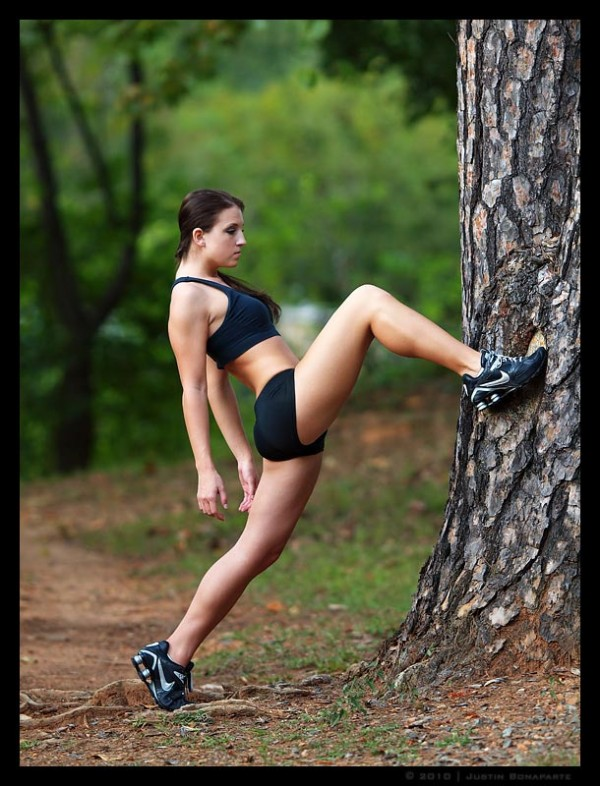 Great Fitness babe exercising gallery