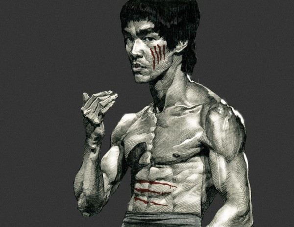 Bruce Lee cartoon drawing