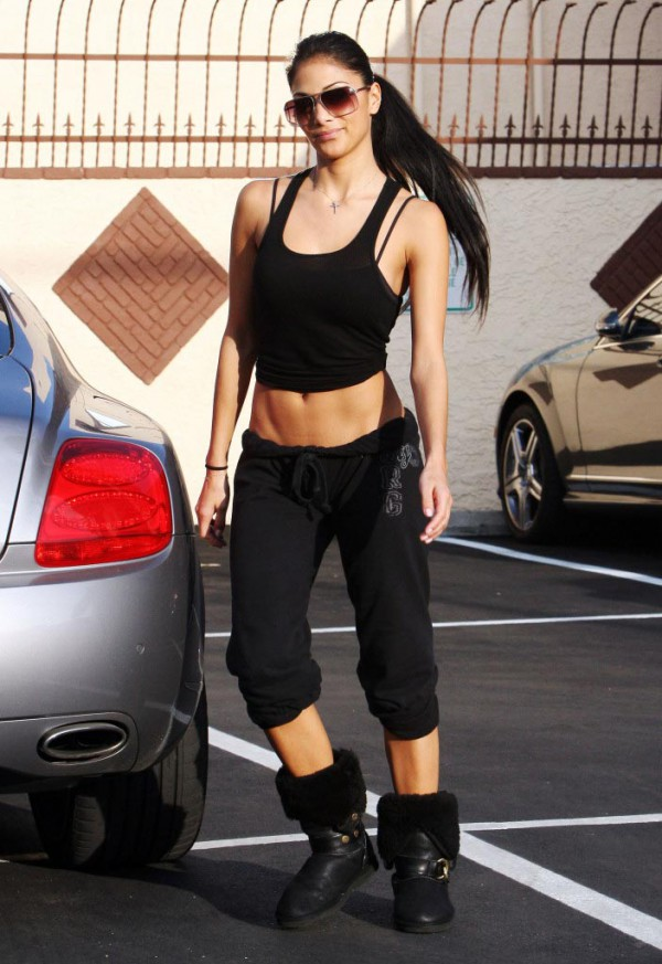 Nicole Scherzinger Working Out