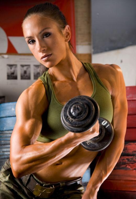 Pauline's Strong Biceps