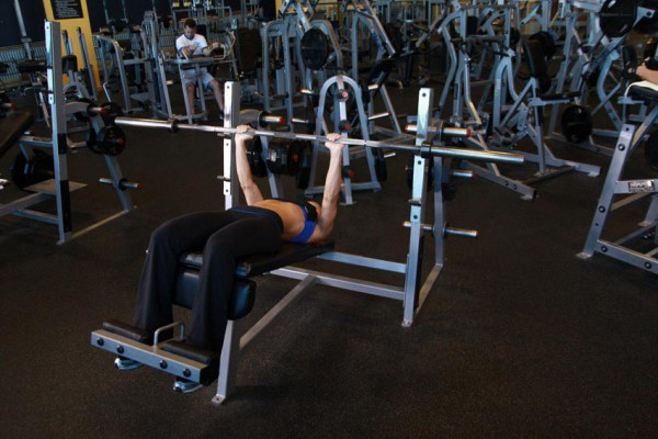 sexy back barbell workout decline bench