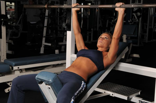 sexy back barbell workout incline bench