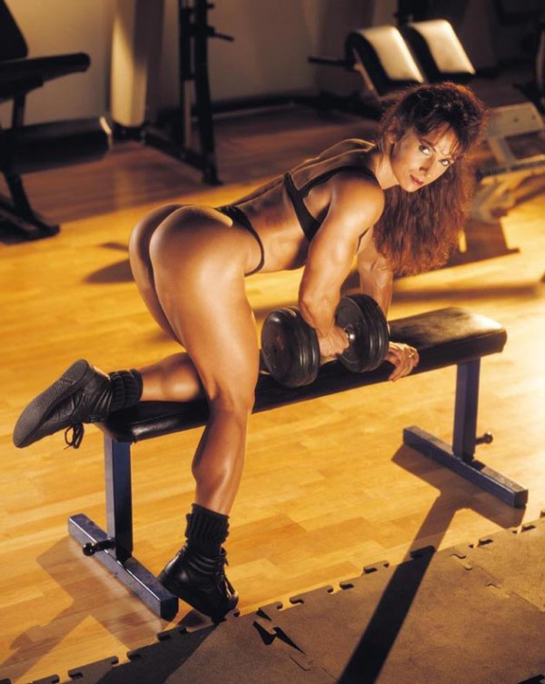 Sexy workout, dumbbells