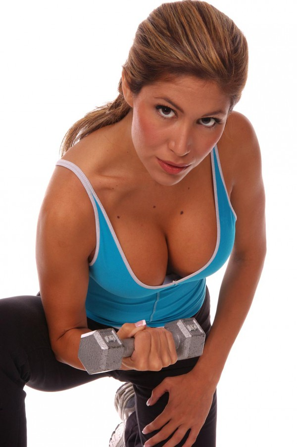 Sexy workout dumbbells