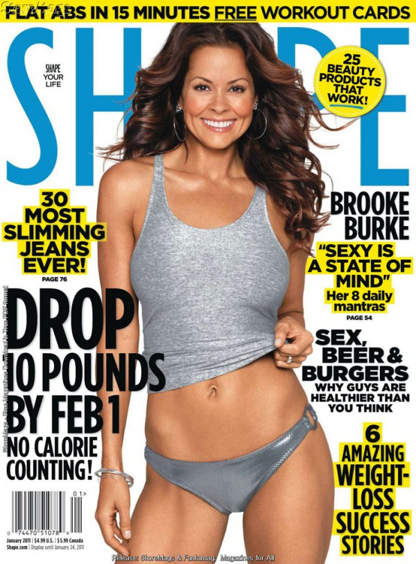 Brooke Burke featured in Shape Magazine, Jan 2011 issue