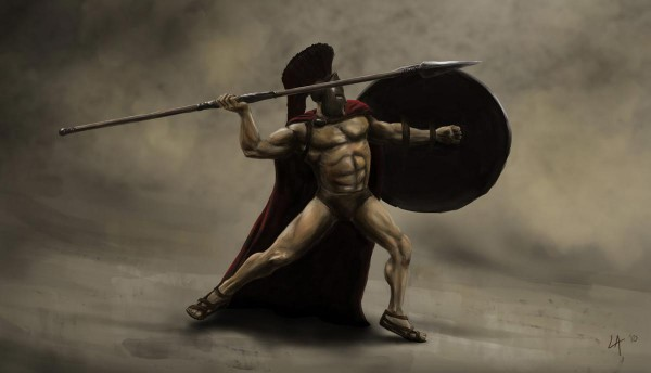 King Leonidas in 300, the movie