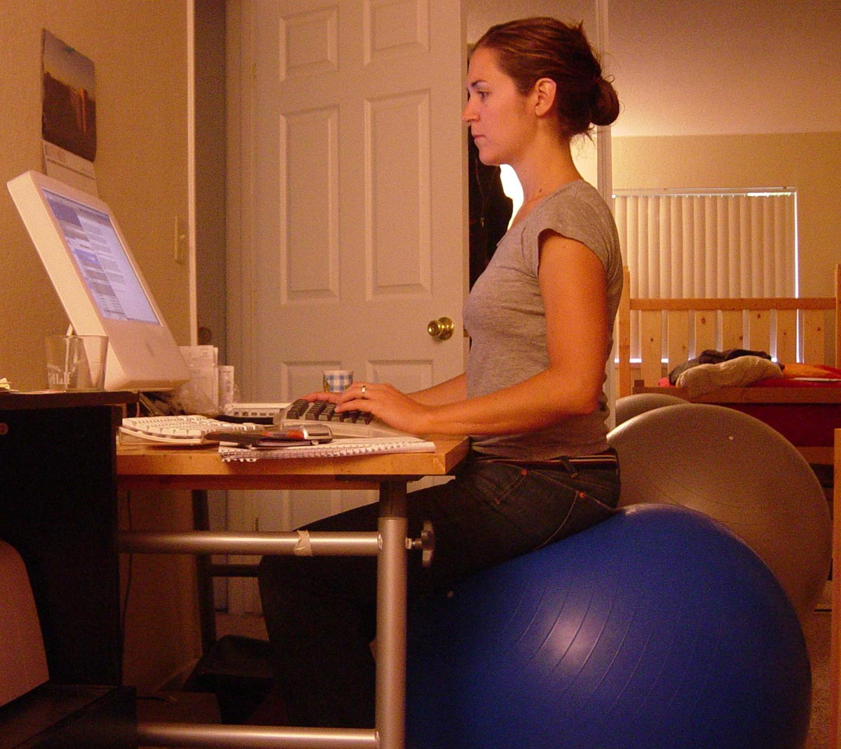 Pilates Ball Straight And Healthy Back