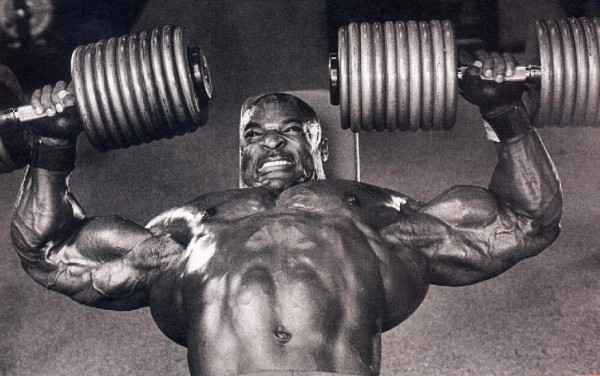 Ronnie Coleman chest exercise