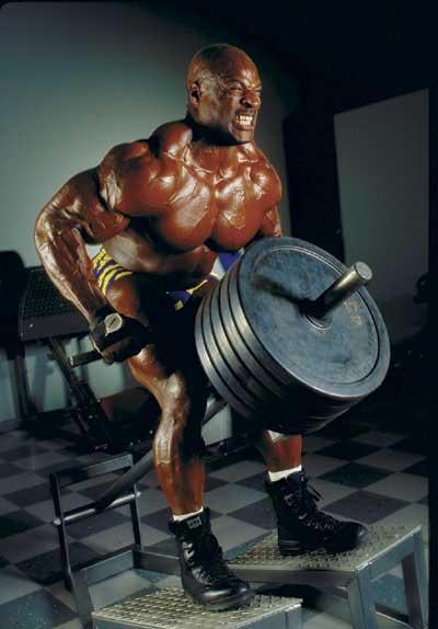 Ronnie Coleman pack exercise