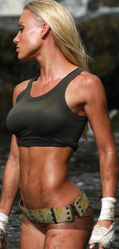 Stacey McMahon with a great athlete body