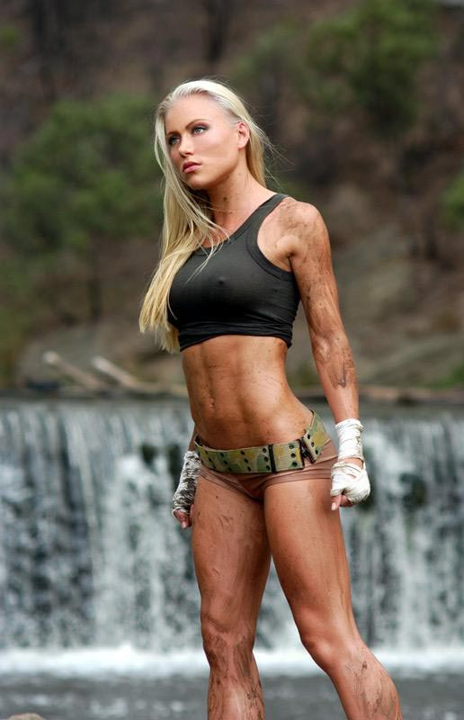 Stacey McMahon's abs