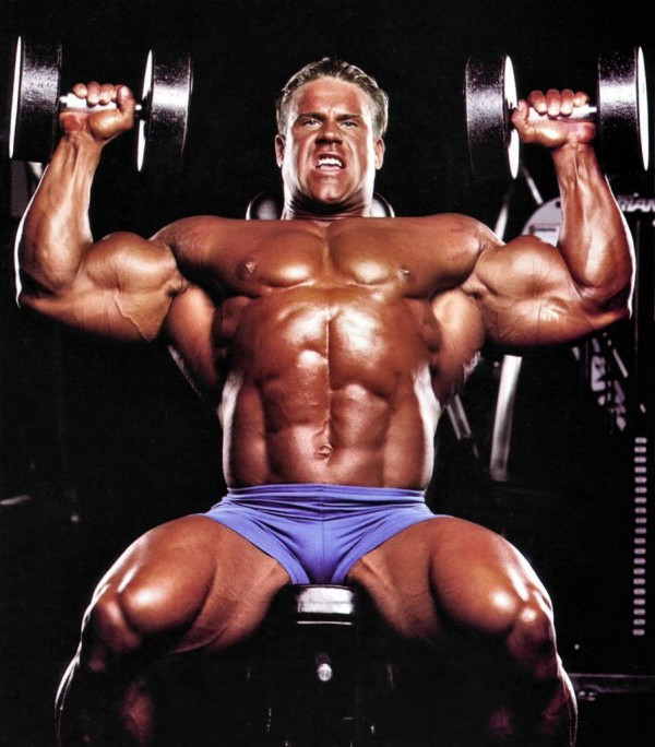 Jay Cutler shoulder workout dumbbels
