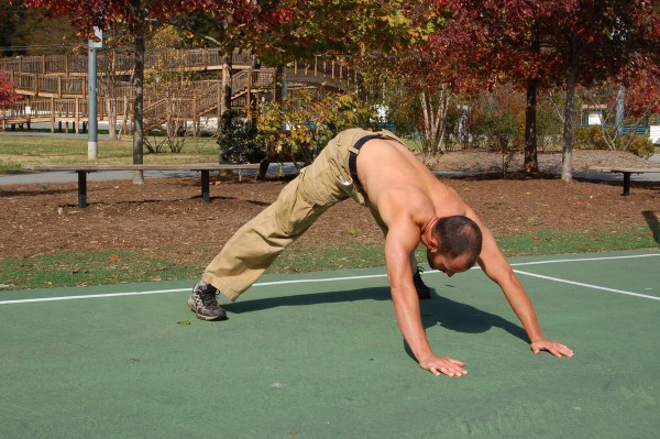 Chest Workout: Dive-Bomber Pushup
