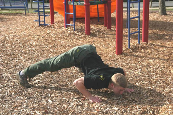 Dive Bomber Pushup