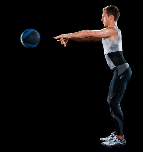 Medicine ball throwing