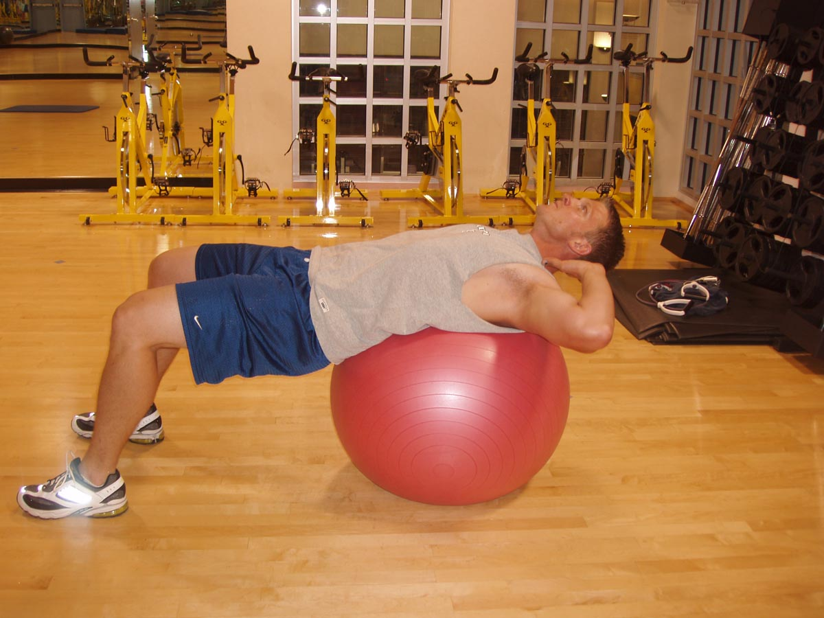 Abs Workout: Exercise ball Crunch
