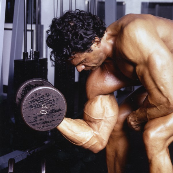 bodybuilder biceps curls
