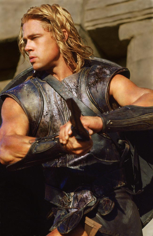 Brad Pitt In Troy Wallpapers. rad pitt troy hair. rad pitt