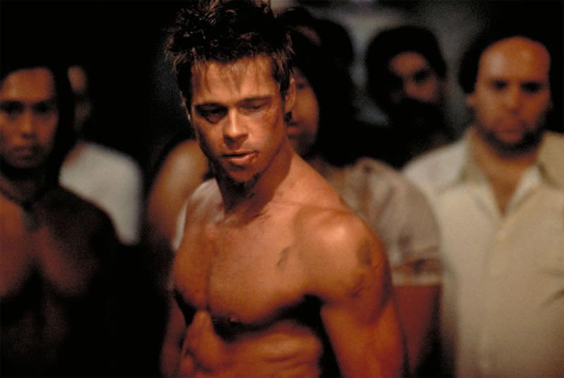 brad pitt body in fight club. Brad Pitt fight club body,