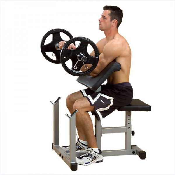 Biceps workout Preacher Curl
