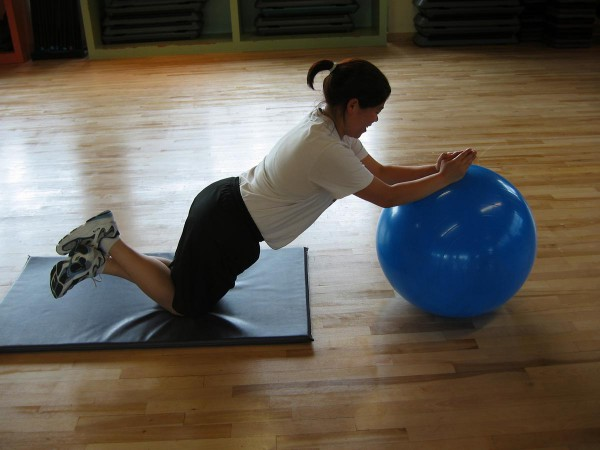 Abs Stability Ball Roll
