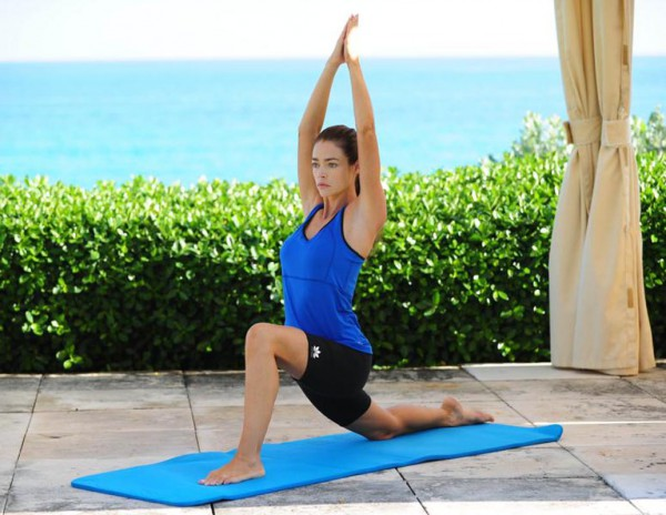 Denise  Richards doing Yoga
