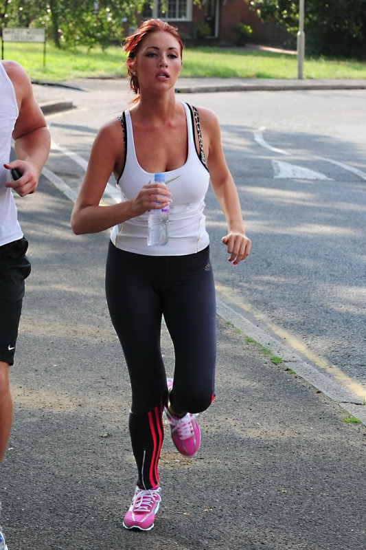 Amy Childs Jogging