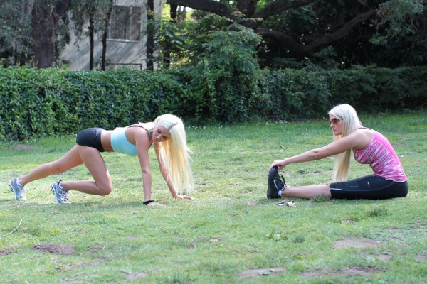 Kristina & Karissa Shannon Out For A Workout