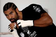 David Haye training