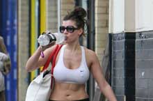 Imogen Thomas after Yoga Class