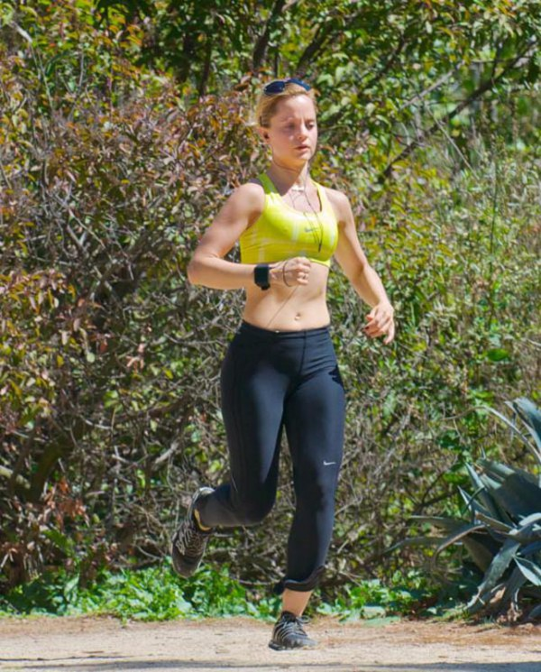 Mena Suvari Jogging in the Sun