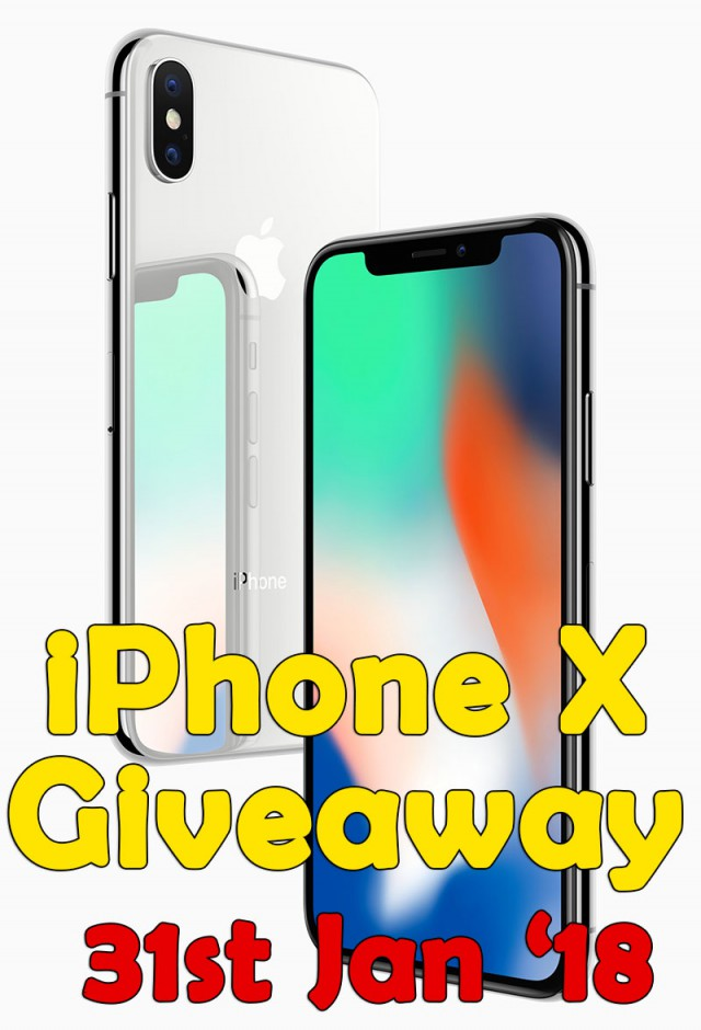 REGISTER BELOW AND WIN – The ALL New iPhone X!